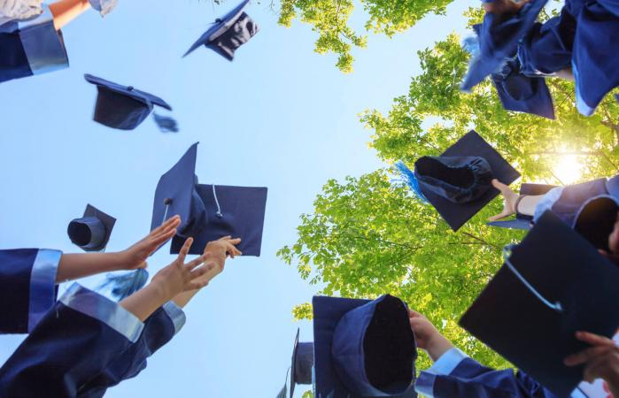 high schoolers earn diploma to go to college